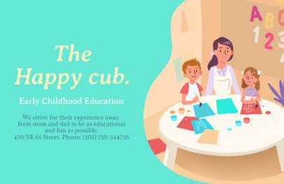 Online Flyer Maker for Early Education Centers 315b