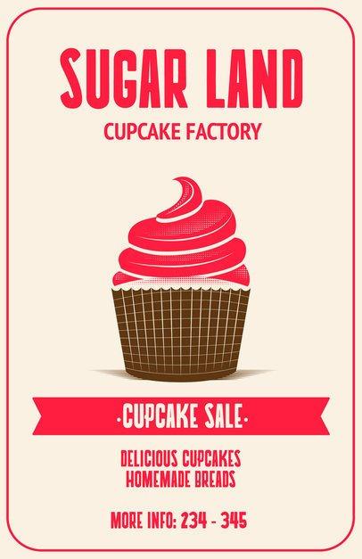 Online Flyer Maker for Cupcake Shops 373