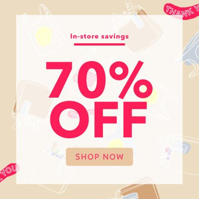 Grocery Store Online Banner Template 293
