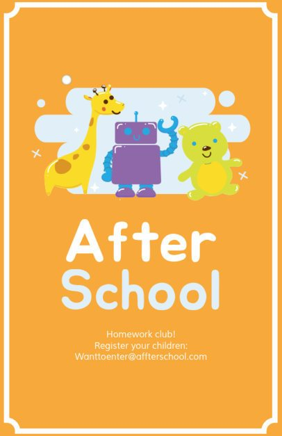 Flyer Maker for Homework Clubs 343e