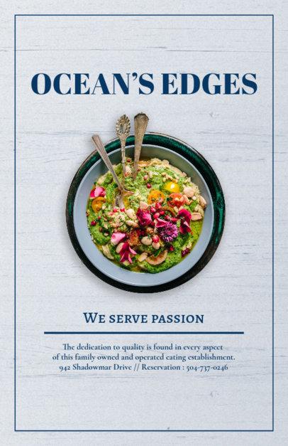 Flyer Maker for Seaside Restaurants 361c