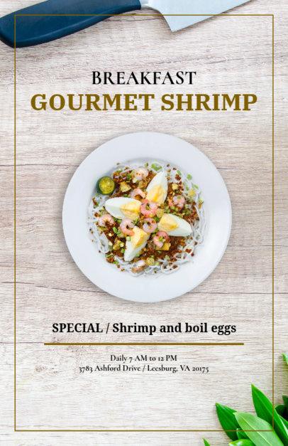 Flyer Maker for Fine Seafood Restaurants 361e