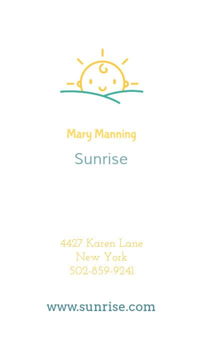 Online Business Card Maker for Nannies 354e