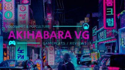 Online Banner Maker for YouTube Channels with Japanese Design 386c