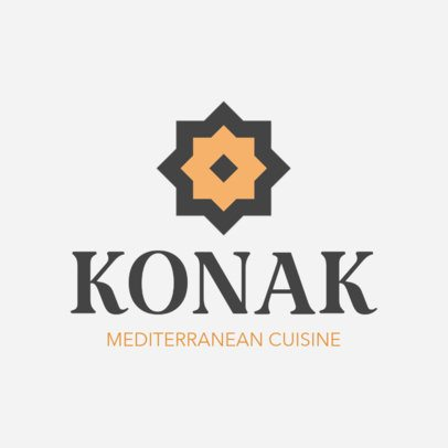 Restaurant Logo Maker for Mediterranean Grills 1224a