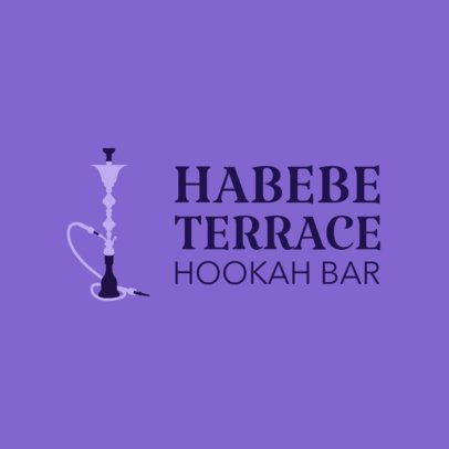 Online Logo Maker for a Hookah Bar 1224e