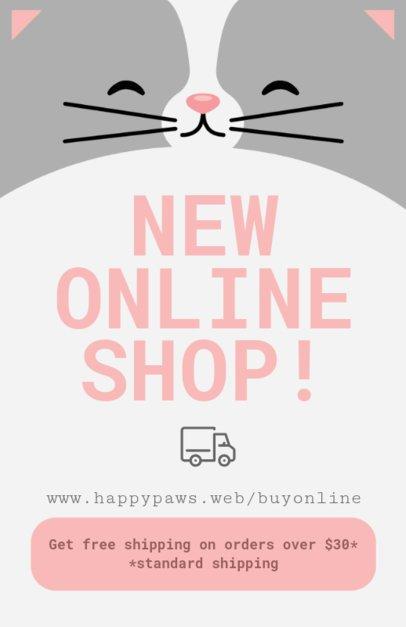 Online Flyer Maker for Online Pet Shops 398-a