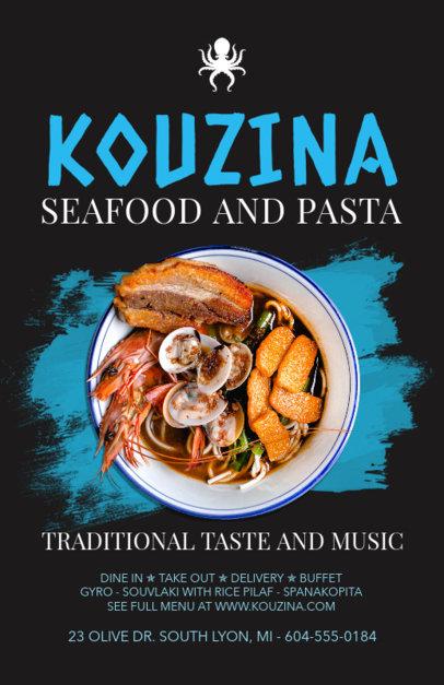 Online Flyer Maker for Seafood and Pasta Restaurants 381d