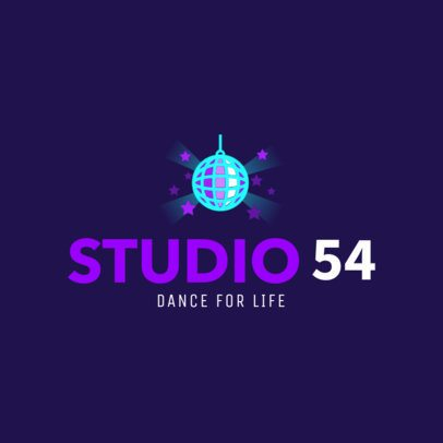 Online Logo Maker for Dance Schools 1257a