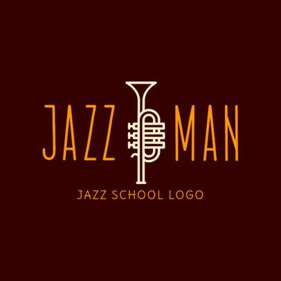 Online Logo Maker for Music School with Jazz Icons 1291a
