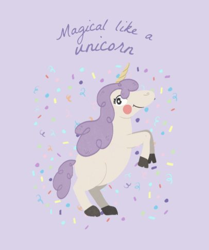 Unicorn T-Shirt Design Template b417