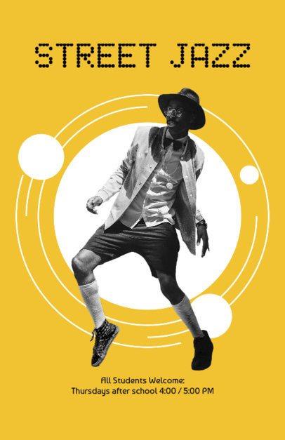 Flyer Maker for Jazz Dance Classes 432b