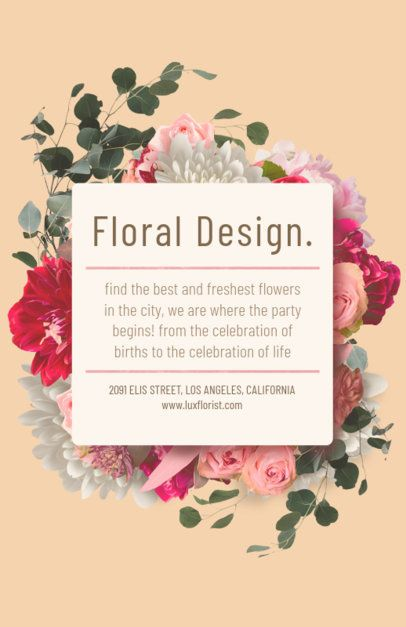 Flyer Maker for Floral Designers with Pastel Colors #434c