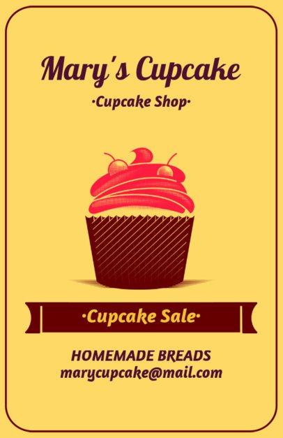 Online Flyer Maker for Cupcake Sales 373a
