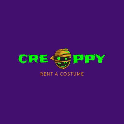 Halloween Mummy Logo Maker 1305e