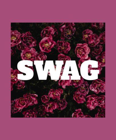Floral Swag T-Shirt Maker 436b