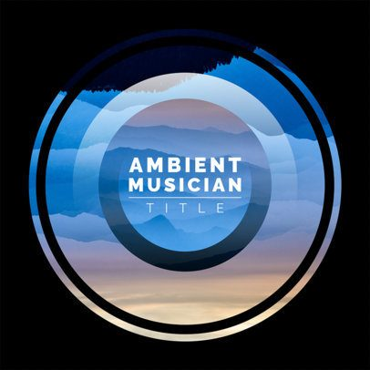 Album Cover Design Template for Ambient Music CD 475