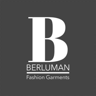 Logo Design Template for Fashion Garments Brand 1318