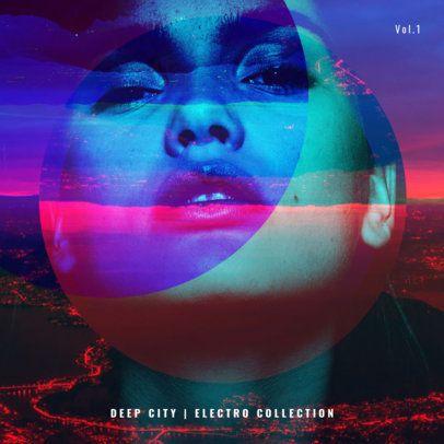 Deep Electro CD Cover Design Template 469e