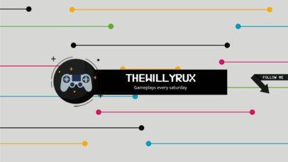 Gameplays Channel Banner Design Template 456b