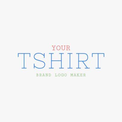 Logo Design Template for T-Shirt Brand 1317d -