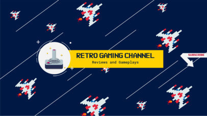 Banner Design Template for Retro Gaming Channel 456d