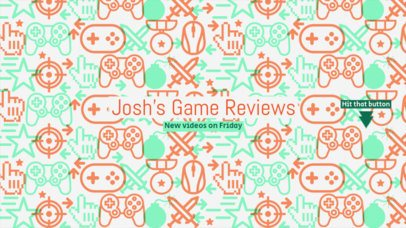 Youtube Banner Template for Gaming Review Channel #462b