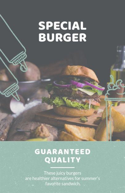 Online Flyer Maker for Healthy Restaurants 416d