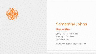 Serious Human Resources Business Card Maker 515