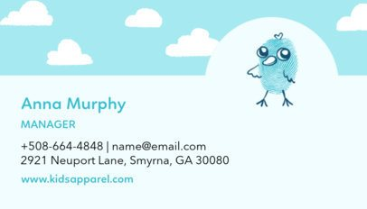 Business Card Template for Clothing Brand 501