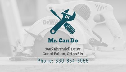 Design Custom Business Card Template for Handyman 491e
