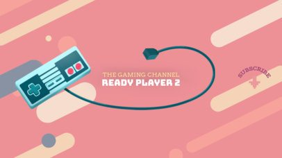 The Gaming Channel Banner Template 457b