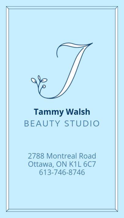 Beauty Studio Business Card Template 485a