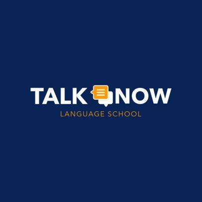 Online Logo Maker for Language School 1364