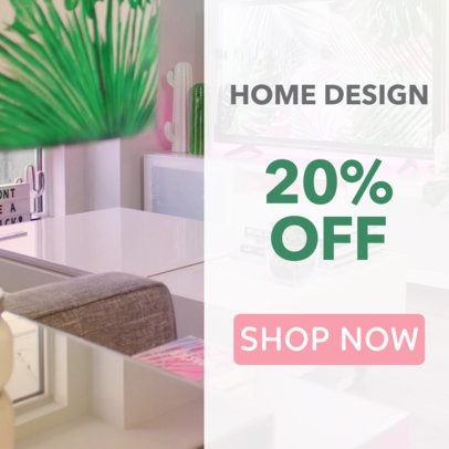 Placeit Banner Maker For An Interior Design Store