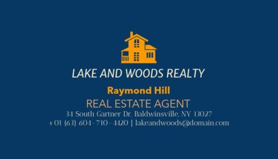 Professional Home Search Agent Business Card Template 499d-1877