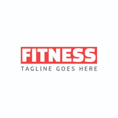 Simple Fitness Logo Template 1358c