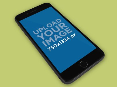 iPhone Mockup Floating on a Solid Surface 22313
