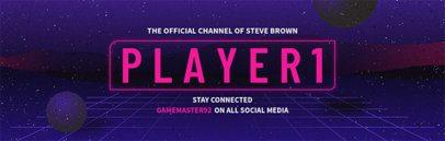 Retro-Futuristic Twitch Banner Maker 579