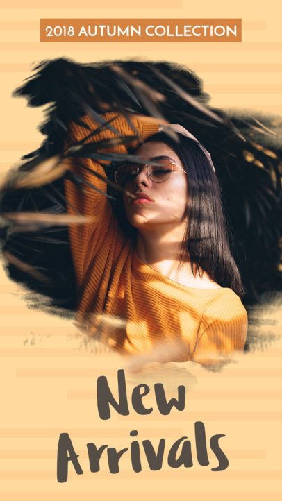 Clothing Brand's New Arrivals for Instagram Story Template 593