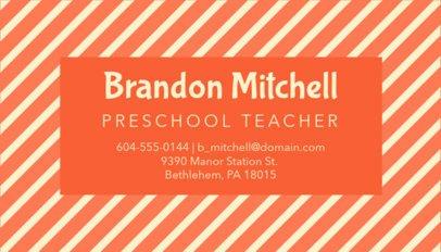 Business Card Template for Pre-K Teachers 575e