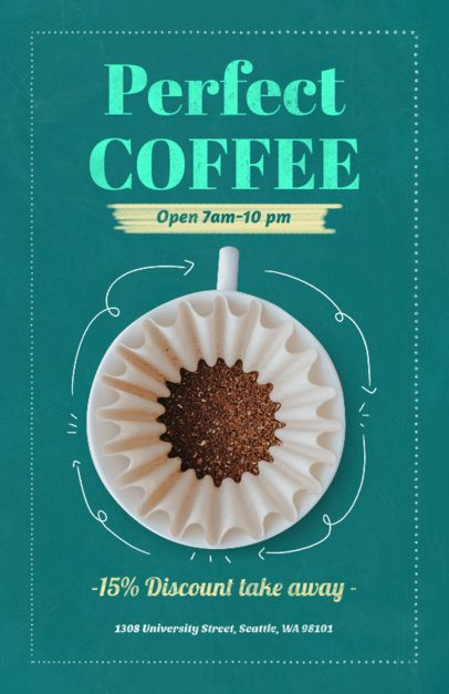 Coffee Cup Online Flyer Maker 404b