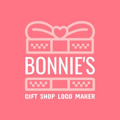 Pink Logo Template for Gift Stores 1395b