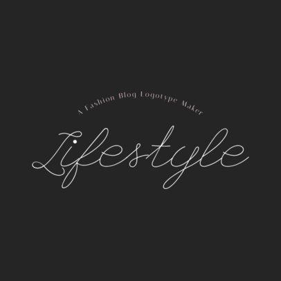 Fashion Logo Creator for Lifestyle Blogs 1409c