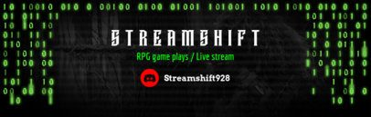 Twitch Banner Template with Binary Code 588b