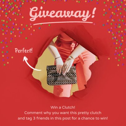 Accessory Giveaway Insta Post Template 629d
