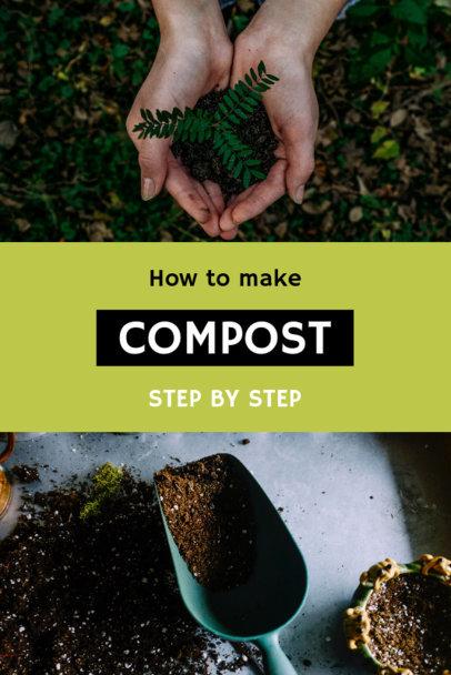 Pinterest Pin Post Template for Organic Gardening Tips 624