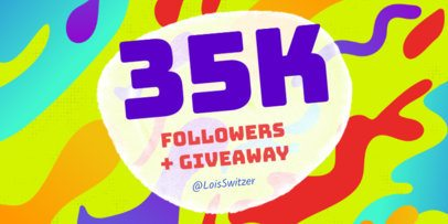 Twitter Post Template for Follower Celebration and Giveaway 613a