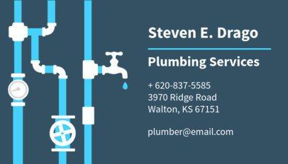 Plumbing Services Business Card Maker 654