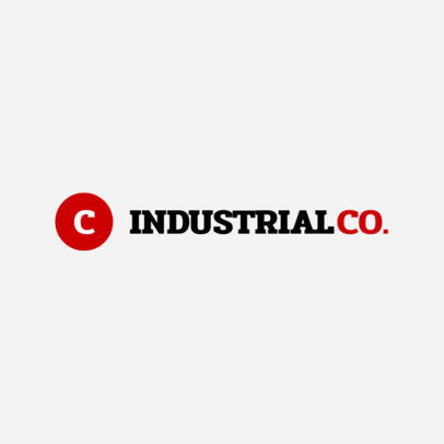 Industrial Company Online Logo Template 1416c